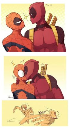 i DO NOT ship these two, but Deadpool would do that and Spider-Man would do that