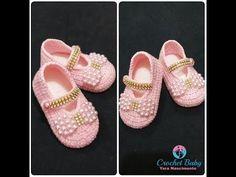 Sapatinho Ana de crochê - Tamanho 09 cm - Crochet Baby Yara Nascimento - YouTube