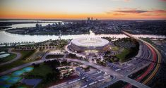 Philips Lighting to deliver 'fans-first' LED sports lighting for unrivaled spectator experience at new multi-purpose Perth Stadium Perth Western Australia, Australia Travel, Double Header, Sports Stadium, The Sydney Morning Herald, Marina Bay Sands, Melbourne, Tourism, Places To Visit