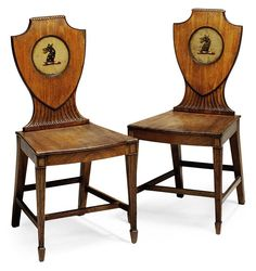 date unspecified A PAIR OF REGENCY CARVED MAHOGANY HALL CHAIRS EARLY 19TH CENTURY Price realised GBP 1,625 Furniture Styles, Antique Furniture, Sofa Chair, Armchair, Hall Chairs, Dining Chairs, Cheap Adirondack Chairs, Old Sofa, Antique Chairs
