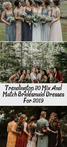 trending mix and match bridesmaid dresses for fall weddings #CasualBridesmaidDresses #YellowBridesmaidDresses #BridesmaidDressesVintage #TanBridesmaidDresses #TealBridesmaidDresses