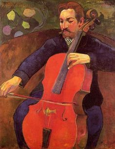 The Cellist (Portrait of Upaupa Scheklud)  - Paul Gauguin