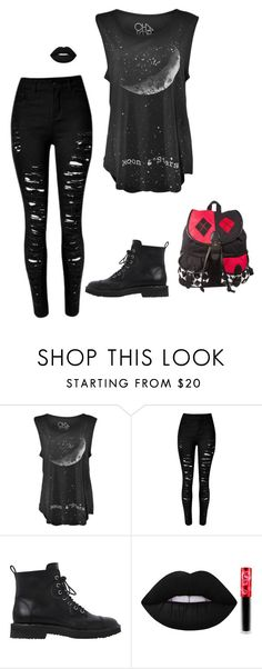 """Emo"" by sillybands95 ❤ liked on Polyvore featuring Giuseppe Zanotti, Lime Crime and backtoschoolwithRJ"