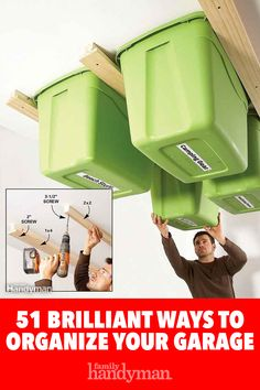 51 Brilliant Ways to Organize Your Garage Organizing a garage isn't a one-size-fits-all project, so we've compiled some of our best garage storage ideas. Check out these tips to find ways to make your garage more organized and better to use. Garage Workshop Organization, Diy Garage Storage, Workshop Storage, Organization Hacks, Storage Ideas, Organizing, Storage Solutions, Garage Shed, Garage House