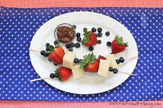 4th of July Week - Red, White and Blue Dessert Kabobs {Aunt Sue's Pound Cake} - Taste and Tell
