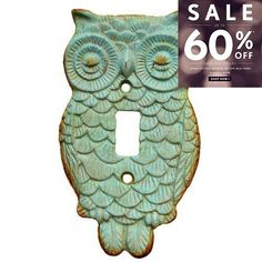 """Rustic Owl Light #Switch Plate, Vertical plate. Screws not included Product Dimensions: 3.625x.25x6.25"""""""