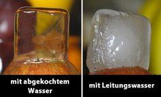 Du möchtest deine Gäste mit kristallklaren Eiswürfeln überraschen? Nichts einfacher als das!