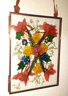 Real pressed flower bouquet I'm copper floating frame ETSY, $38 https://www.etsy.com/your/shops/FlowerFelicity/tools/listings/stats:true