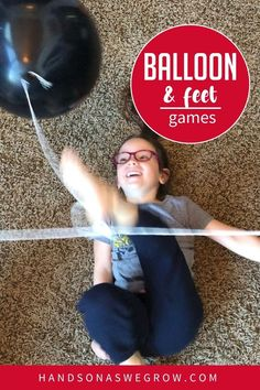 If your kids are crazy about balloons give these 2 quick and simple indoor balloon games a try! These two activities are quick prep and no mess and lots of preschool and toddler fun! Gross Motor Activities, Creative Activities, Hands On Activities, Toddler Fun, Toddler Preschool, Toddler Activities, Balloon Games For Kids, Foot Games, Painters Tape