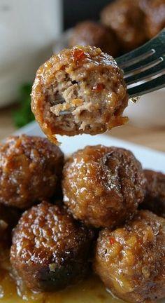 Crock Pot Pineapple Habanero Meatballs Frozen Appetizers, Finger Food Appetizers, Appetizer Recipes, Finger Foods, Spicy Meatballs, Crock Pot Meatballs, Crockpot Dishes, Crockpot Recipes, Cooking Recipes