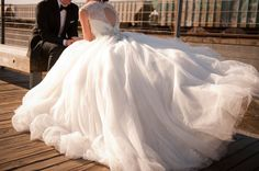 Riley and Eric's New York Inspired Wedding. That Dress!!!!!!