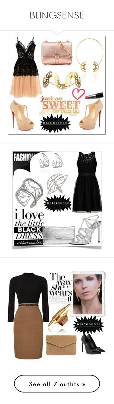 """BLINGSENSE"" by kiveric-damira ❤ liked on Polyvore featuring True Decadence, Christian Louboutin, Aspinal of London, Jolie By Edward Spiers, Loeffler Randall, Prada, Phase Eight, Yves Saint Laurent, Jimmy Choo and Elle Zeitoune"