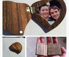How To Make DIY Locket From A Piece Of Wood | DIY Tag