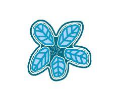 big blue flower fabric by reen_walker on Spoonflower - custom fabric