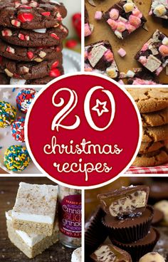 This year I've put together a little collection of 20 of my favorite cookie, candy and bar recipes that are not only easy to make but are downright delicious!