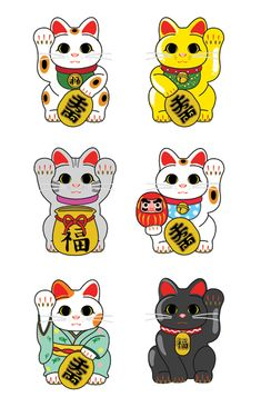 The maneki-neko (招き猫) is a common Japanese figurine, usually made of ceramic in modern times, which is often believed to bring good luck to the owner. The figurine depicts a cat beckoning with an upright paw, and is usually displayed—often at the entrance—in shops, restaurants, pachinko parlors, and other businesses. Some of the sculptures are electric or battery-powered and have a slow-moving paw beckoning. The maneki-neko is sometimes also called the welcoming cat, lucky cat, money cat…