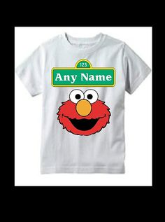 SESAME STREET Elmo t-shirt add childs name by SAVVYCOUNTRYDESIGNS