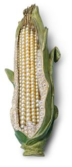 Delicious Jewels - SWEET CORN - oriental pearls - diamonds - silver - gold