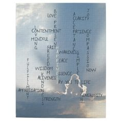 'Inspire Me' Zazzle Products: Inspirational Words to Live by for Happiness Puzzle:  An inspirational crossword puzzle that contains words to remind us to live in the present moment, to achieve Happiness.   #naturesessenceinprint