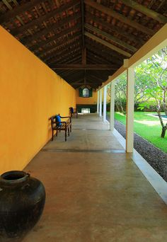 Architect Geoffrey Bawa's signature pavilions blur the line between indoors and outside. #Indistay | The Last House, Sri Lanka