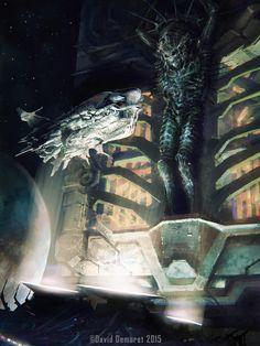 Alien Messiah, David Demaret on ArtStation at https://www.artstation.com/artwork/alien-messiah