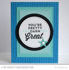 For the Boys, Myriad Dot Background, Cross-Stitch Circle STAX Die-namics, Cross-Stitch Rectangle STAX Die-namics - Teri Anderson  #mftstamps