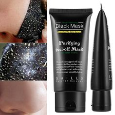Deep Cleaning Blackhead Pore Cream Removal Facial Acne Treatment Peel-off Purify - Acne & Blemish Control Blackhead Peel Off Mask, Face Mask Peel Off, Black Peel Off Mask, Gel Face Mask, Blackhead Remover, Black Mask, Deep Cleansing Facial, Cleansing Mask, Acne Facial