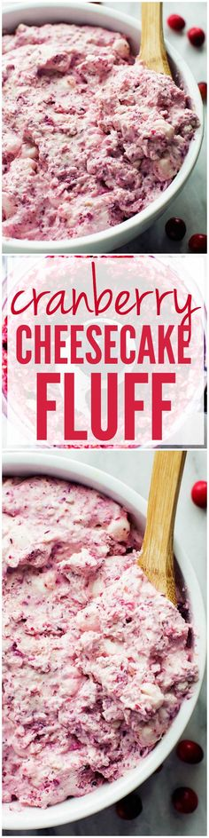 This Cranberry Cheesecake Fluff is SO easy and a must make at your holiday party!!