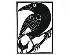 Image result for linocuts animals mono colour