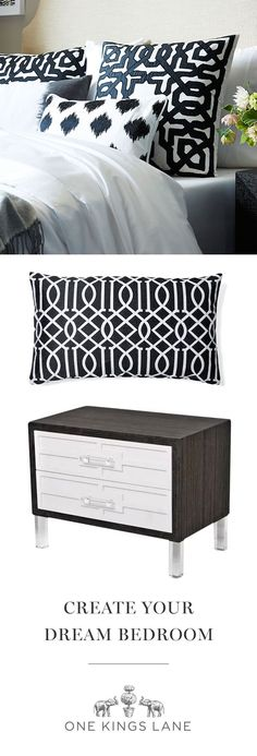 We love a bedroom that's equal parts chic and cozy. We adore an elegant side table or a pillow with a fun pop of color. Whatever your style, find it on One Kings Lane and make your bedroom a space you love.
