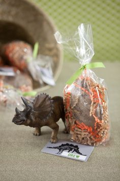 Fossilized dinosaur egg party favor {with a surprise inside}