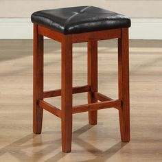 cherry bar stools. Set Of 2 - 24-inch High Cherry Bar Stools W/ Cushion Faux Leather C