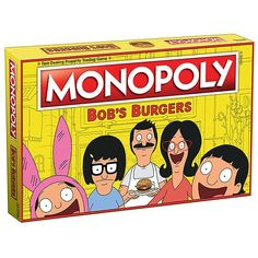 Until one of the major board game companies recognizes the genius of Gayle Force Winds, you're going to have to settle for this Bob's Burgers version of Monopoly. It comes with custom locations (obviously), and custom tokens of the Belcher family + Teddy.