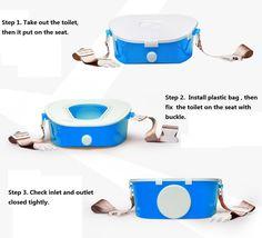 Potty Training Crusar Travel Potties - Crusar Car emergency miniature toilet Portable Removable travel Potties