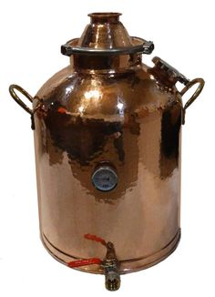 16 Gallon Copper Boiler with 3 Inch Copper Domed Top Lid Copper Pot Still, Copper Pots, Home Distilling, Moonshine Still, Homemade Wine, Boiler, Distillery, Brewing, Kit