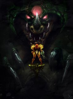 "ragingspaniard: "" Happy 30th anniversary, Metroid! This piece is a couple of…"