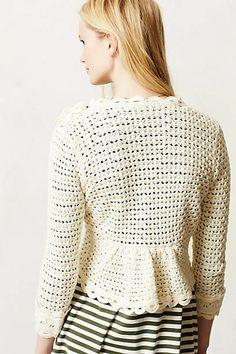 As if the feminine crochet design wasn't fab enough...check out the peplum back!