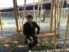 Mr Fabio Romani @ The Big Bamboo by Mike & Doug Starn in Rome
