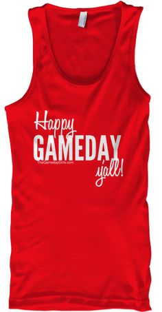 """Limited Edition """"Gameday"""" Tank by The Gameday Girls. $16, available for pre-order until May 5th."""