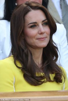 Catherine, Duchess of Cambridge attends day ten of the Wimbledon Tennis Championships at Wimbledon on June 27, 2016 in London, England.