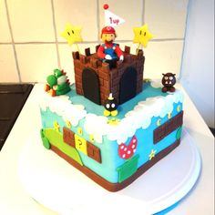 Torta de Súper Mario #SúperGeeks