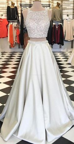 Hot sexy two-piece suit prom Dresses long prom dress, lace prom dress, long sleeve prom dress, a line prom dress, evening dress · prom dress · Online Store Powered by Storenvy Bling Prom Dresses, Homecoming Dresses Long, Gorgeous Prom Dresses, Junior Prom Dresses, Prom Dresses Two Piece, Prom Dresses For Teens, Prom Dresses Long With Sleeves, Elegant Prom Dresses, Beaded Prom Dress