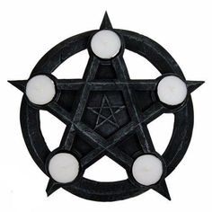 Nemesis Now Pentagram-Portavelas cm), Color Gris, Size Wiccan, Magick, Witchcraft, Pagan, Ouija, Gothic, Book Of Shadows, Tea Light Holder, The Conjuring
