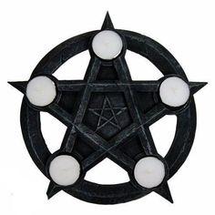 Nemesis Now Pentagram-Portavelas cm), Color Gris, Size