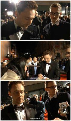 Tom Hiddleston. #EEBAFTAs. Via Torrilla.tumblr.com
