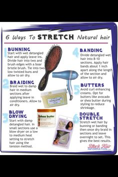 how to stretch natural hair