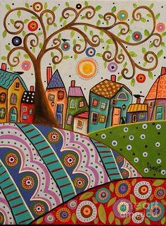 Amusing Landscape Painting by Karla Gerard