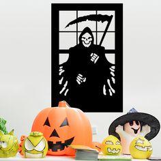 Halloween Death Reaper Design Wall Stickers Repeatable PVC Backdrops