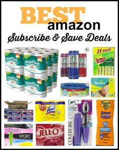 Best Amazon Subscribe and Save Deals..I use subscribe and save for diapers since they are not at costco!