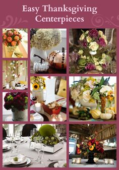 30+ Easy Thanksgiving Centerpieces>>  http://www.hgtv.com/entertaining/20-thanksgiving-centerpieces/pictures/index.html?soc=pinterest